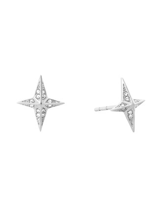 Brilliance Stainless Steel Silver-Tone Earring