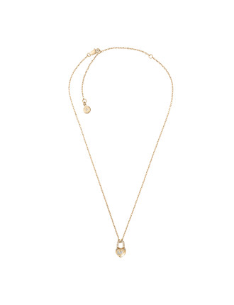 Logo Stainless Steel Gold-Tone Necklace