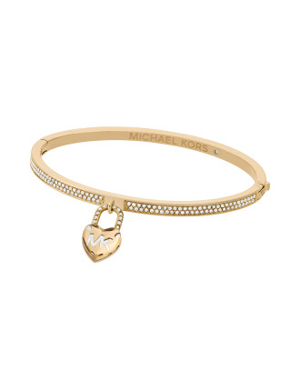 Logo Stainless Steel Gold-Tone Bracelet