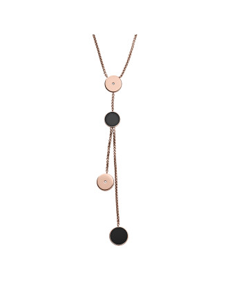 Ellen Stainless Steel Rose Gold-Tone Necklace