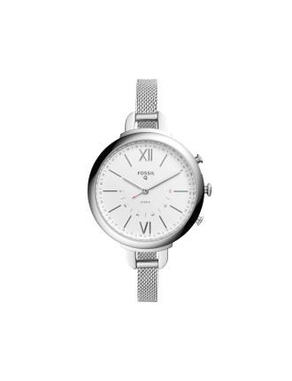 Q Annette Silver Hybrid Smartwatch