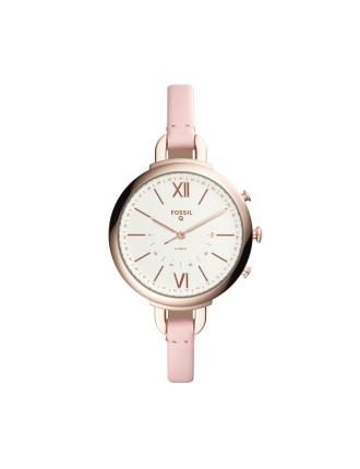 Q Annette Pink Hybrid Smartwatch