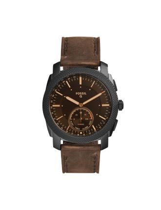 Q Machine Dark Brown Hybrid Smartwatch