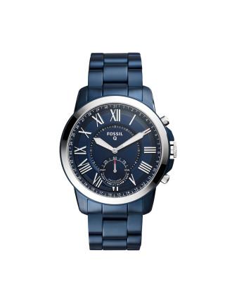 Q Grant Blue Hybrid Smartwatch