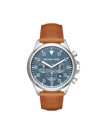 Gage Brown Leather Mens Chronograph Watch