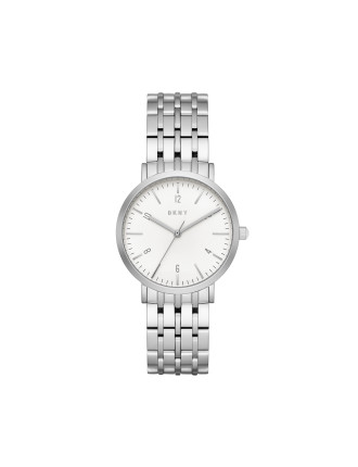 Dkny Dress Case Silver Watch