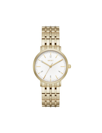 Dkny Dress Case Gold Watch
