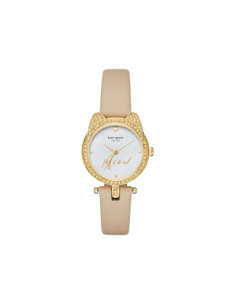 Kate Spade Cat Case Beige Watch