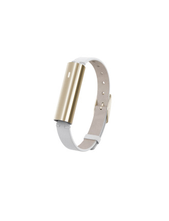Misfit Ray - Gold-Tone Stainless Steel/White Leather Band