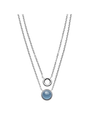 Sea Glass Stainless Steel Necklace - Silver