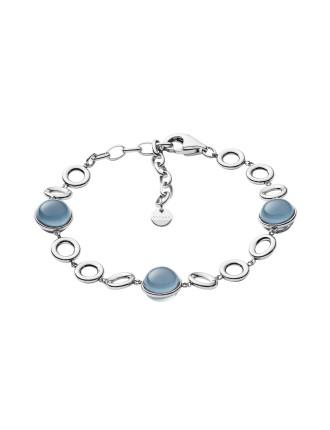 Sea Glass Stainless Steel Bracelet - Silver