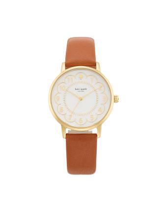 Scallop Light Brown Watch