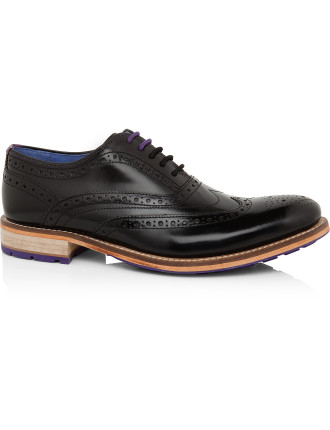 Patent Leather Brogue Lace Up