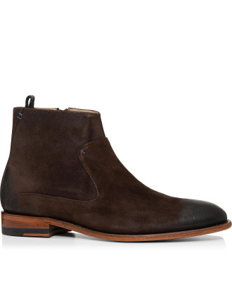 Waxed Suede Boot