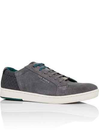 MENS LEATHER MIX TRAINER