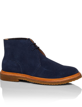 Karlyle Laceup suede boot