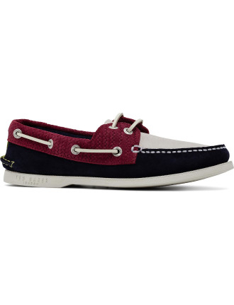 Nubuck Tri Colour Boat Shoe