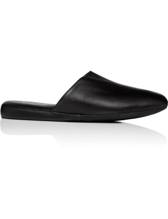 Baby Calf Leather Open Back Slipper