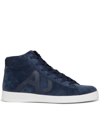 Suede Hightop Logo Sneaker