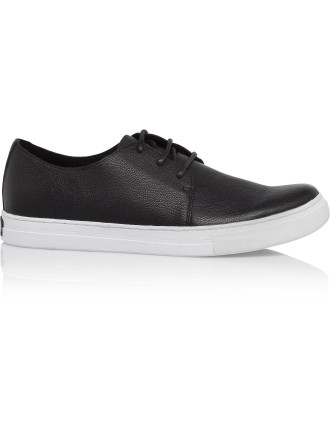 Double Shuffle Stamped Leather Low Profile Sneaker