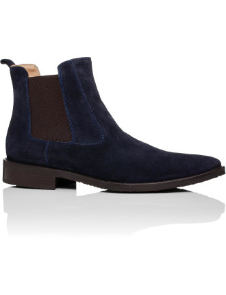 Suede Chelsea Boot W/ Natual Leather Sole