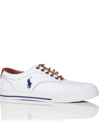 Vaughn Canvas W/ Leather Trim Low Profile Sneaker