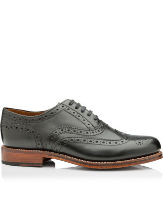 Angus Black Calf Brogue