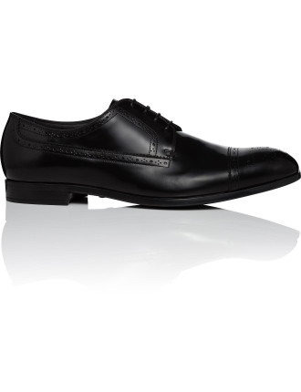 Spazzolatto 4 Lace Derby W/Cap Toe