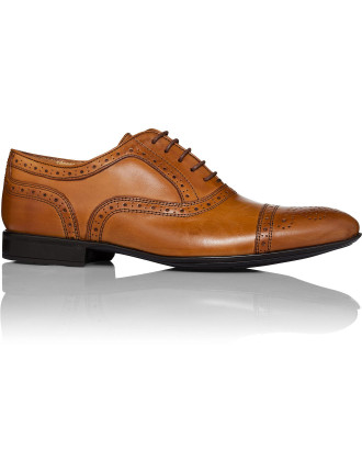 5 Lace Oxford With Brogue Detailing And  Rubber Sole