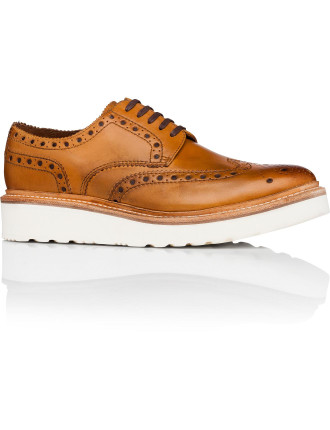 Archie Derby W/ Brogue Detail & Wedge Sole