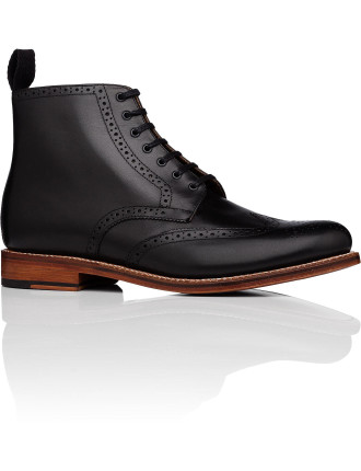 Alfred Lace Up Boot W/ Brogue Detail And Welted Leather Sole