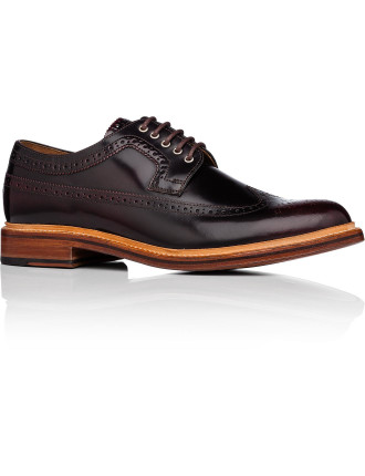 Sid Leather Derby W/ Wingtip Brogue Detail  And Welted Sole