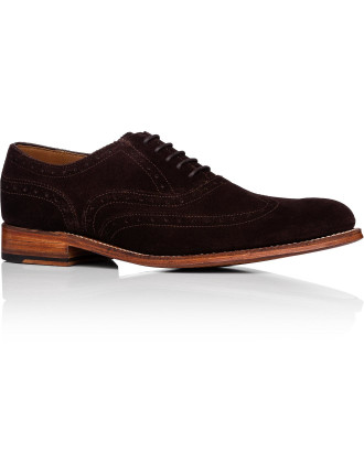 Dylan Suede Oxford W/ Wingtip Brogue Detail And Welted Sole