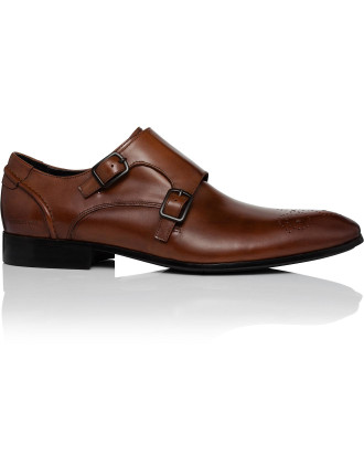 Top Notch Double Monk Strap W/ Brogue Details