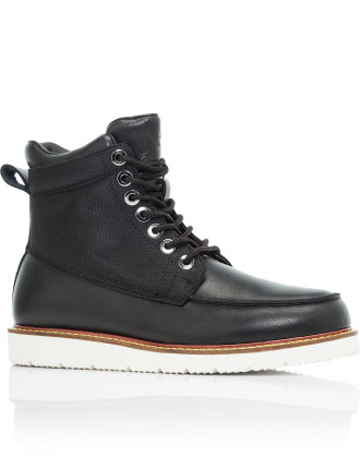 Leather & Nylon Mesh Hiking Boot