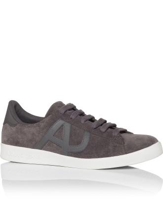 Suede Low Profile Sneaker W/ Tonal Aj Logo