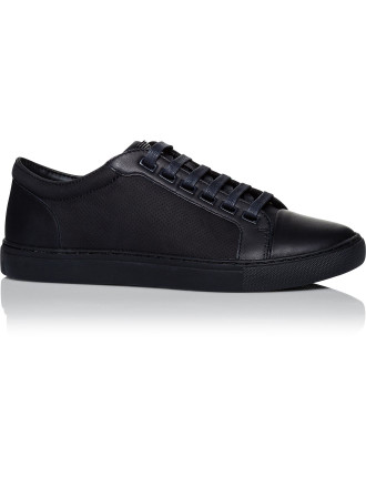 Leather & Perforated Suede Low Profile Sneaker