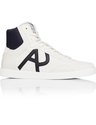 Suede & Nylon High Profile Sneaker