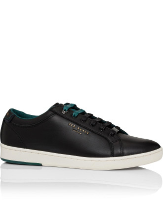 Smooth Leather Sneaker W/ Cup Sole
