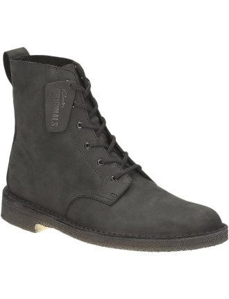 Desert Marli Waxy Leather High Boot W/ Crepe Sole
