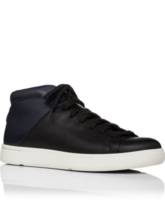 Akira Leather Mid Profile Two Tone Sneaker