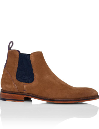 Suede Chelsea Boot W/ Leather Sole