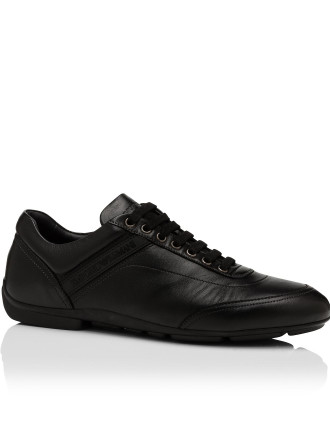Nappa Leather Driving Sneaker W/ Rubber Sole