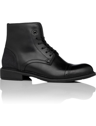 Warth Leather Biker Boot