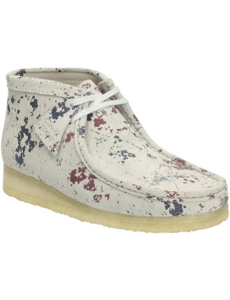 Wallabee Splatter Paint Suede Boot With Crepe Sole