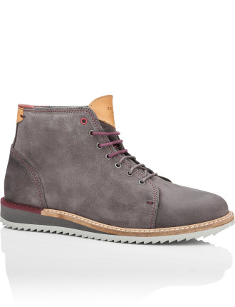 Suede Chucka Boot with Wedge Sole