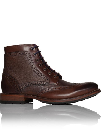 Laceup Boot W/ Hiking Tread And Brogue Detail