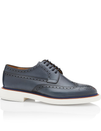 JUNIOR Leather Wing Tip Derby