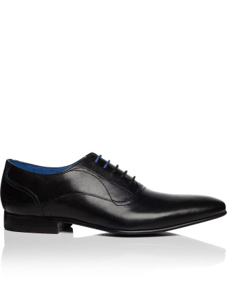 Leather 5 Lace Oxford W/ Plain Vamp & Resin Sole