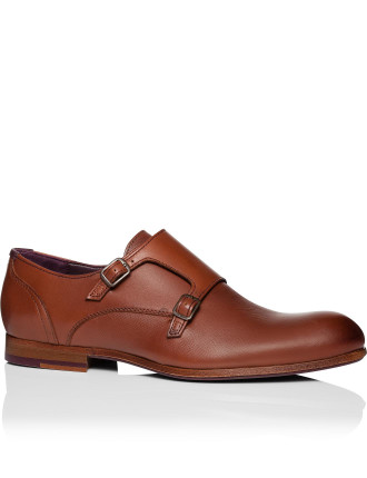 Valath Leather double monk w/ rubber sole
